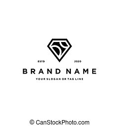 letter D diamond logo icon Design vector