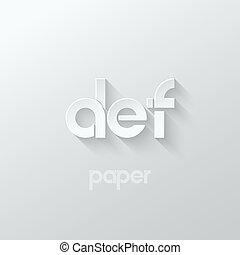 letter D E F logo alphabet icon paper set background