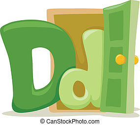 Letter D - Illustration Featuring the Letter D