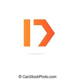 letter d logo design template elements