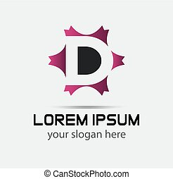letter d logo icon design template