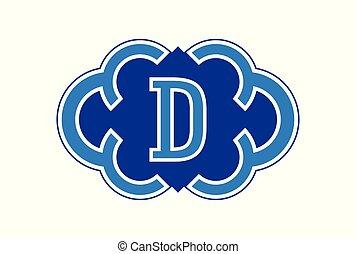 letter D logo icon vector concept
