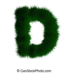 letter d made of grass