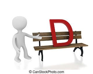 letter d on desk
