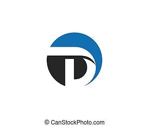 Letter d symbol illustration design