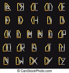 Letter D with alphabet - D and other alphabet letters...
