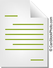 Letter document icon