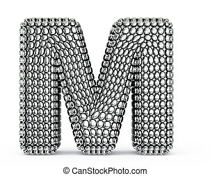 letter - steel letter isolated on a white background