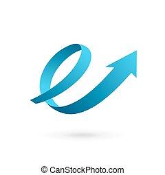 Letter E arrow loop logo icon design template elements....