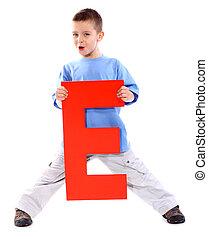 "Letter \""E\"" boy"