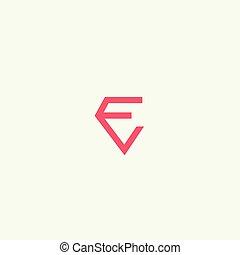 letter e diamond logo design template