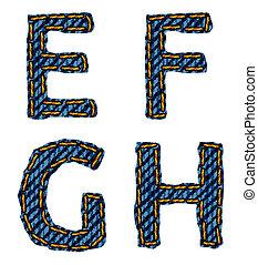 letter E F G H