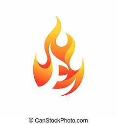 Letter E fire logo design