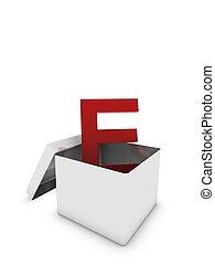 letter e in box