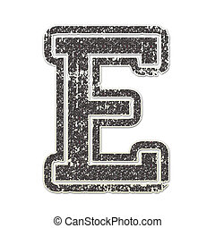 Letter E in College Glitter - Letter E