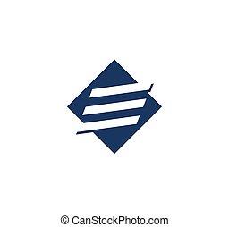 Letter E logo - Abstract letter E