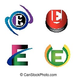 Letter E logo design template letter E icon