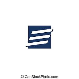 Letter E logo - Geometric abstract letter E