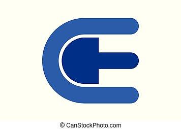 letter e logo icon vector concept