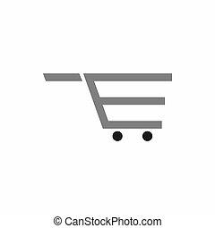 Letter E shopping cart logo