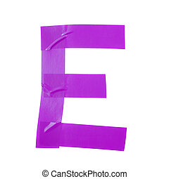 Letter E symbol made of insulating tape