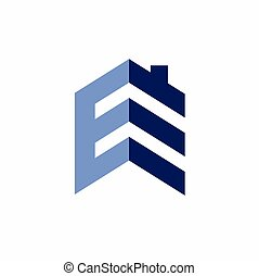 letter E that formed real estate logo