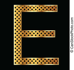 Letter E with tiger style