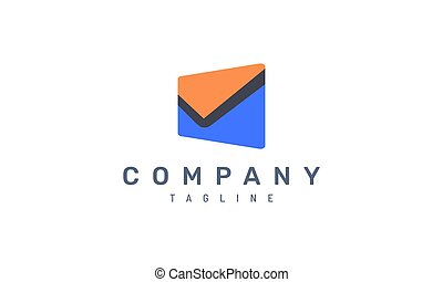 letter email vector design concept. Perfect for the business logo and icon