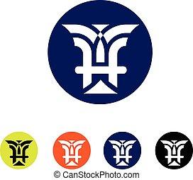 Letter Emblem H classic style