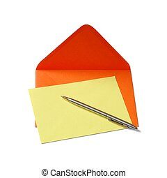 Letter - Envelope, paper and pen