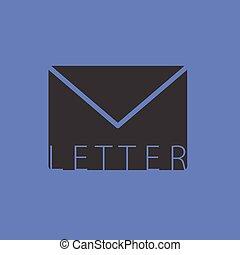 letter envelope vector illutration on blue