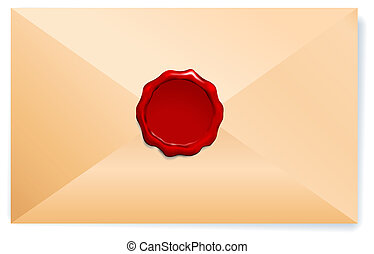 Letter Envelope with Wax Seal