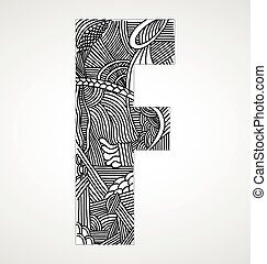 "Letter ""F"" from doodle alphabet"
