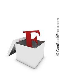 letter f in box