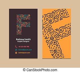 Letter F Logo Business card - F Letter Logo Corporate...