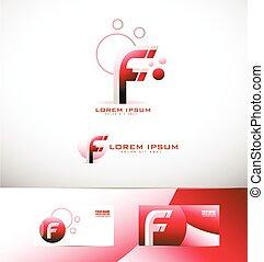 Letter F logo icon set