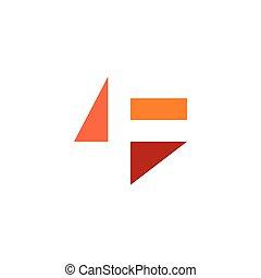 letter f logo negative space icon