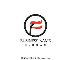 Letter f logo template vector