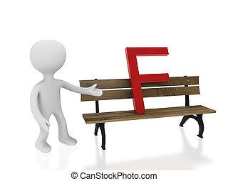 letter f on desk