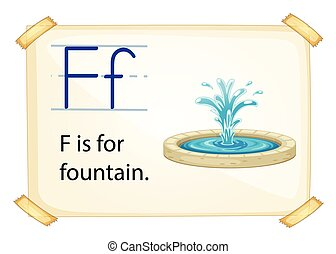 Letter F - Poster of an alphabet F