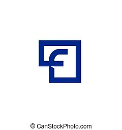 Letter F square