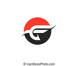 Letter f symbol illustration design