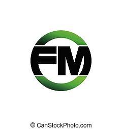 Letter FM simple monogram logo icon design. initial logo vector illustration.
