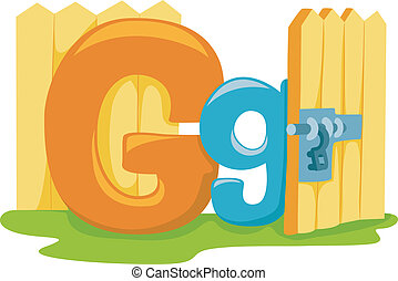 Letter G - Illustration Featuring the Letter G