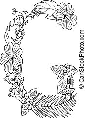 Letter G floral ornament