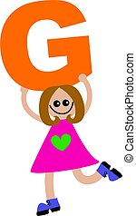 letter G girl