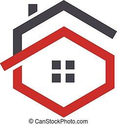 letter G house logo - Letter G logo with real estate logo,...
