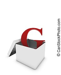 letter g in box