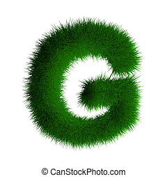 letter g made of grass