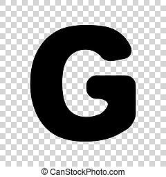 Letter G Sign Design Template Element Black Icon On Transparent